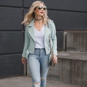 NWOT BLANK NYC Suede Moto Jacket Size S